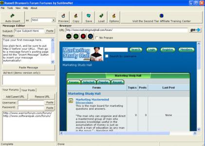 Forum fortunes screenshot